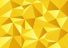 Fondo del polígono de la celebración del oro amarillo Foto de archivo