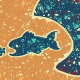 Fondo del predatore del pesce Fotografia Stock Libera da Diritti