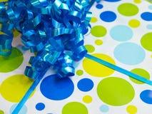Fondo del presente de cumpleaños Fotografía de archivo libre de regalías
