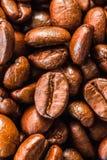 Fondo del primer de los granos de café Imagen de archivo