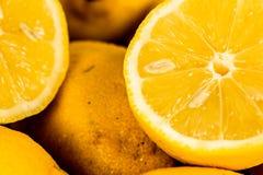 Fondo del primer del limón Fotos de archivo libres de regalías