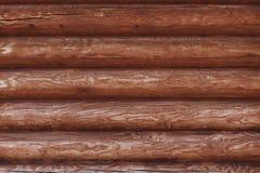 Fondo del primo piano dalle pareti della capanna di legno Immagine Stock