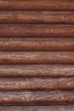 Fondo del primo piano dalle pareti della capanna di legno Immagini Stock Libere da Diritti