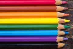 Fondo del primo piano multicolore delle matite Fotografia Stock Libera da Diritti