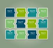 Fondo del progreso del vector Plantilla para el diagrama, el gráfico, la presentación y la carta Concepto del negocio con 12 opci libre illustration