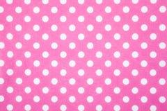 Fondo del punto de polca del fieltro del color de rosa Imágenes de archivo libres de regalías
