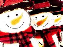 Fondo del pupazzo di neve Fotografia Stock