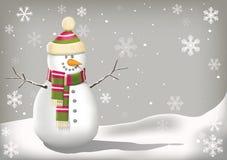 Fondo del pupazzo di neve di Natale Fotografie Stock Libere da Diritti