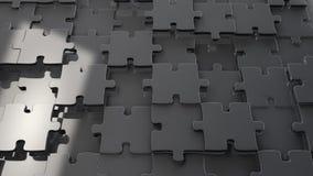 Fondo del puzzle del cromo del metallo Immagini Stock Libere da Diritti