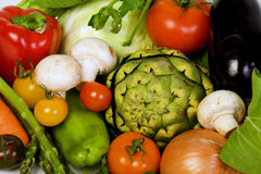 Fondo del raccolto delle verdure Fotografia Stock