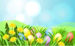 Fondo del rayo de sol de Pascua stock de ilustración
