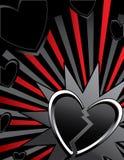 Fondo del rayo del corazón quebrado ilustración del vector