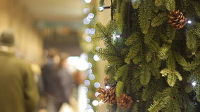 Fondo del árbol de navidad almacen de video