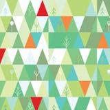 Fondo del árbol del invierno en estilo geométrico Imagenes de archivo