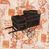 Fondo del recorrido de la vendimia Imagen de archivo