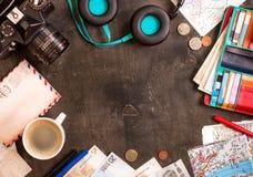 Fondo del recorrido Planeamiento del viaje Imágenes de archivo libres de regalías