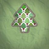 Fondo del recorte del árbol de navidad Fotos de archivo libres de regalías