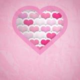 Fondo del recorte del corazón Foto de archivo libre de regalías
