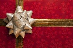 Fondo del regalo de la Navidad Imagen de archivo