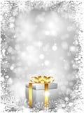 Fondo del regalo de la Navidad Fotografía de archivo