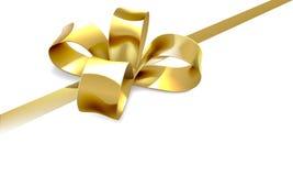 Fondo del regalo del arco del oro Foto de archivo