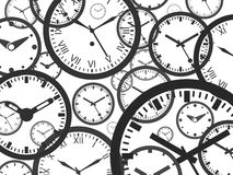Fondo del reloj - ejemplo aislado del vector libre illustration