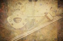 Fondo del reloj del Grunge imagenes de archivo
