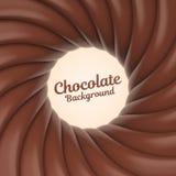 Fondo del remolino del chocolate con el lugar para su contenido Imagen de archivo