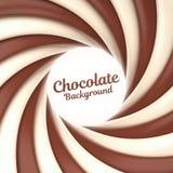 Fondo del remolino del chocolate con el lugar para su contenido Fotografía de archivo libre de regalías