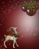 Fondo del reno de la Navidad Fotografía de archivo