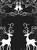 Fondo del reno de la Navidad Imagenes de archivo