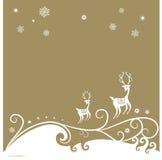 Fondo del reno de la Navidad Foto de archivo