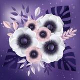 Fondo del resorte con las flores stock de ilustración