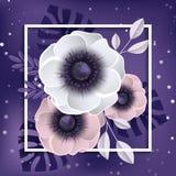 Fondo del resorte con las flores ilustración del vector