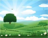 Fondo del resplandor solar de la naturaleza ilustración del vector