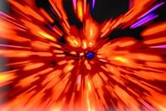 fondo del rojo de la explosión Fotografía de archivo libre de regalías
