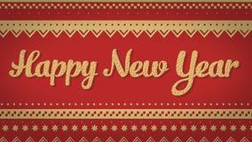 Fondo del rojo de la Feliz Año Nuevo Imagenes de archivo
