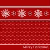 Fondo del rojo de la Feliz Navidad Foto de archivo
