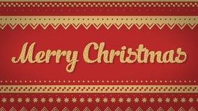 Fondo del rojo de la Feliz Navidad Fotografía de archivo