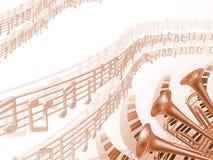 Fondo del rojo de la música stock de ilustración