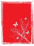 Fondo del rojo de la mariposa libre illustration