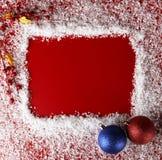 Fondo del rojo de la Navidad Imágenes de archivo libres de regalías