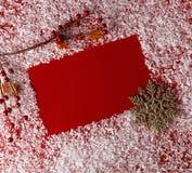 Fondo del rojo de la Navidad Imagen de archivo libre de regalías