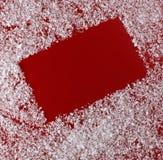 Fondo del rojo de la Navidad Fotografía de archivo