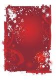 Fondo del rojo de la Navidad Fotos de archivo