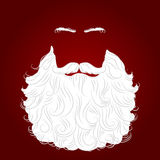 Fondo del rojo de santa de la barba Imágenes de archivo libres de regalías