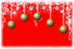 Fondo del rojo del Año Nuevo Fotos de archivo libres de regalías
