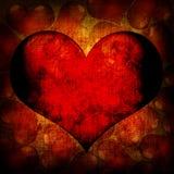 Fondo del rojo del día de tarjeta del día de San Valentín Imagenes de archivo