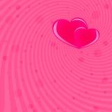 Fondo del rojo del día de tarjeta del día de San Valentín Imagen de archivo libre de regalías