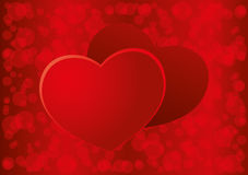 Fondo del rojo del día de tarjetas del día de San Valentín ilustración del vector
